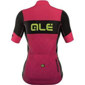 Alé Cycling R-EV1 Rumbles Kortærmet cykeltrøje Damer pink/sort